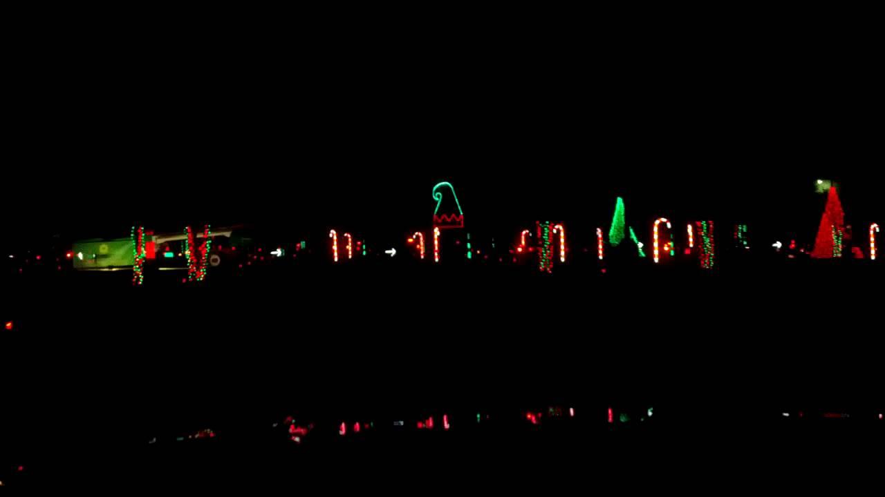 Christmas Lights at Hank Aaron Stadium - YouTube