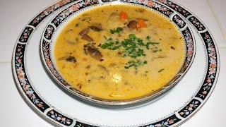 Баварский грибной суп с плавленным сыром-Bavarian mushroom soup
