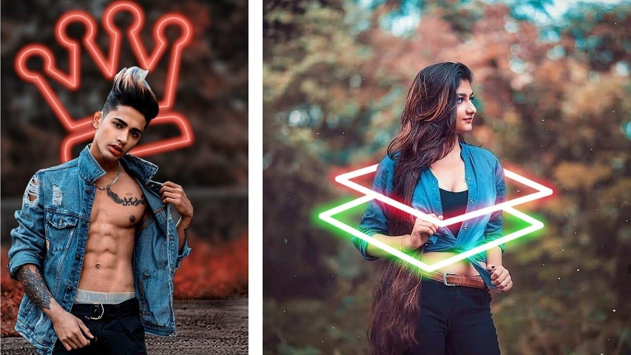 Picsart Neon Background Effect | Picsart editing tutorial ...