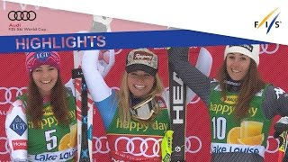 Highlights   Lara Gut Soars To Victory In Lake Louise   Fis Alpine
