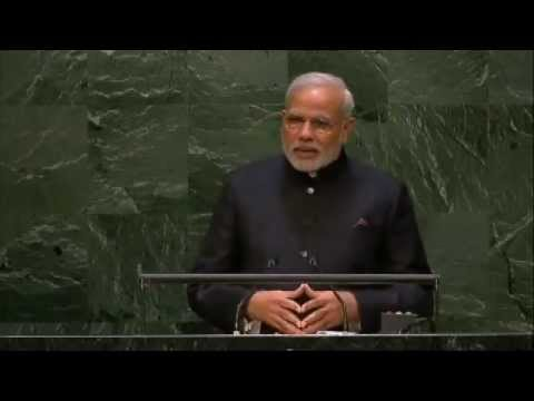 PM Modi addresses the United Nations General Assembly, in New York