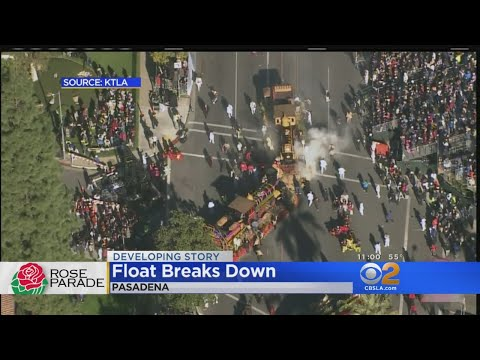 Rose Parade Float Breaks Down, Catches Fire