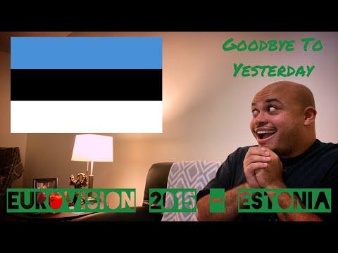 """EUROVISION 2015 ESTONIA REACTION - 7th place """"Goodbye To Yesterday"""" Elina Born & Stig Rästa"""