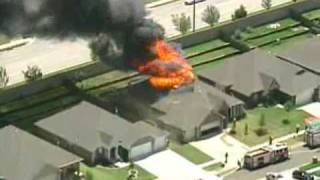 Caught on camera: a large house fire destroys home in sw okc.