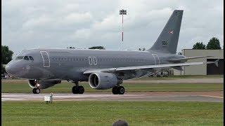 Hungarian Air Force Airbus A319 Landing & Take Off at RIAT 2019