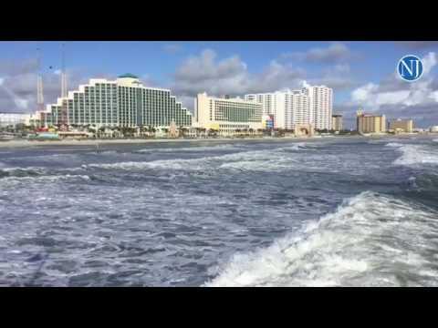 The Calm Before Storm As Hurricane Matthew Roaches Daytona Beach