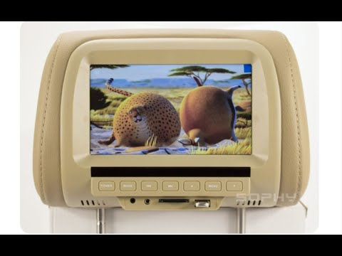 Автомобильный подголовник с экраном и мультимедиа с Алиэкспресс.