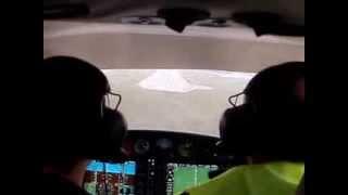 Учебный полёт СПбГУГА Diamond DA-40 NG