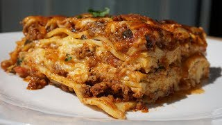The Most Amazing Lasagna Recipe WITHOUT Ricotta Cheese| Must Try!