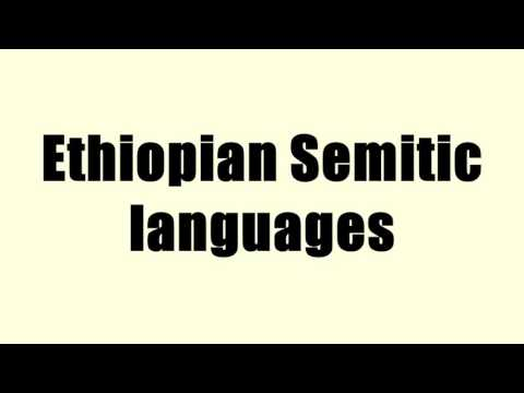 Ethiopian Semitic languages