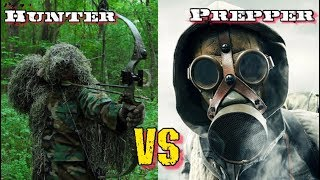 Doomsday Prepper vs Hunter • Survival Kit Showdown