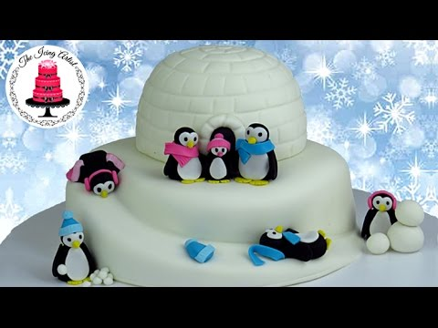 3d Igloo Cake With Penguins