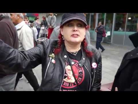 Interview with Antifa lady who got schooled by the black guy in Manchester