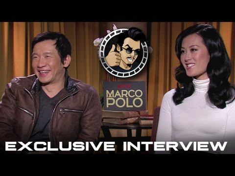 Chin Han and Olivia Cheng Interview - Netflix's Marco Polo (HD) 2014