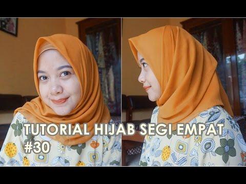 Tutorial Hijab Segi Empat Paris 30 Indahalzami Youtube