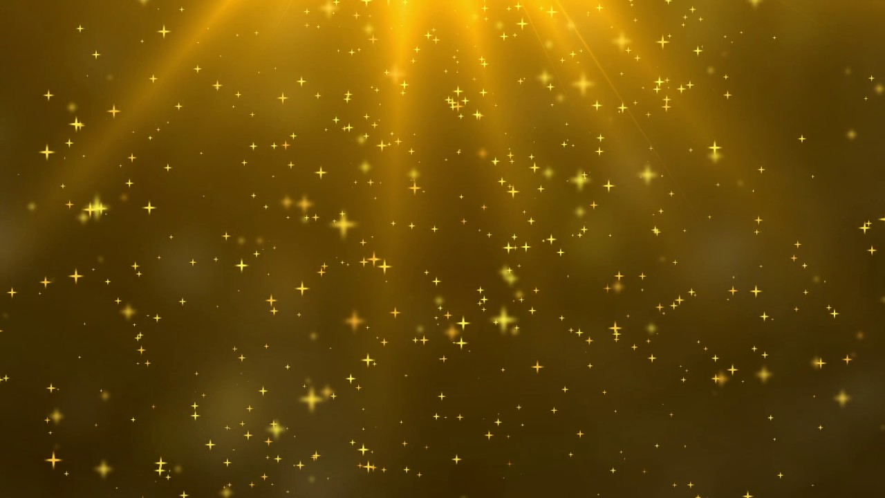 Falling Gold Sparkles Wallpaper Free Footage Background Gold Star And Lights 01 Youtube
