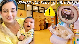 ❗️1st DOCTOR VISIT of BABY ARMAAN Indian Mom of 2 Girls \u0026 Newborn Baby Life👉Netherlands🇳🇱Vlog*320