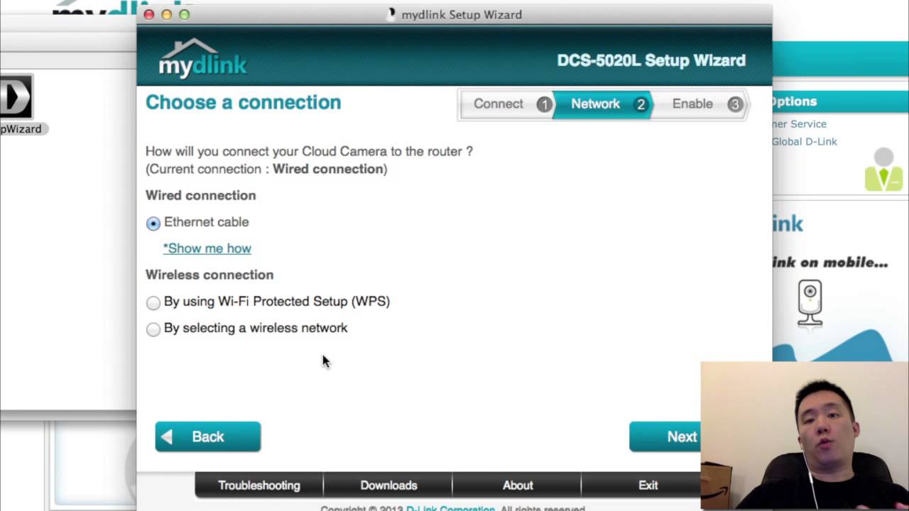 How to Setup D-Link DCS 5020L Wireless IP Camera - YouTube