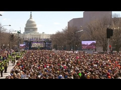 Hundreds of thousands join 'March for Our Lives' in support of gun control | ITV News