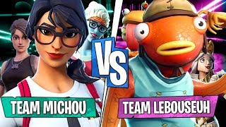 Team Michou VS Team Lebouseuh sur le mode Rocket League sur Fortnite Créatif !