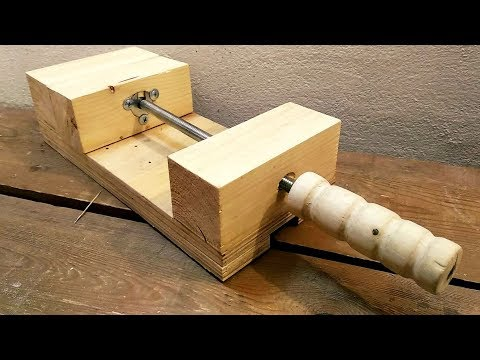 How to Make a Drill Press Vise - DIY Wooden Vice