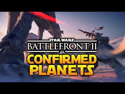 ALL CONFIRMED PLANETS - Star Wars Battlefront 2