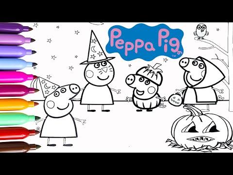 peppa-pig-halloween-dibujos-para-colorear-|-aprende-los-colores-|-videos-para-niños