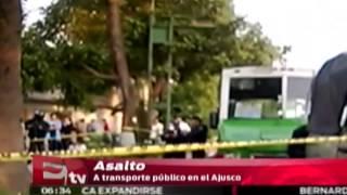 Balacera en asalto a transporte de el Ajusco / Vianey Esquinca