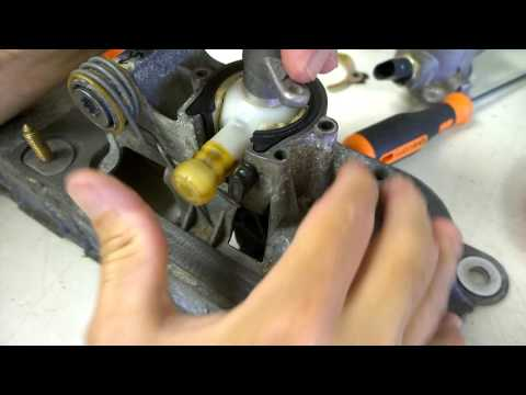 VW Shift Cable Saver: Changing the front to back cable end bushing from inside the car