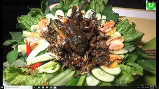 Fried frog is very delicious