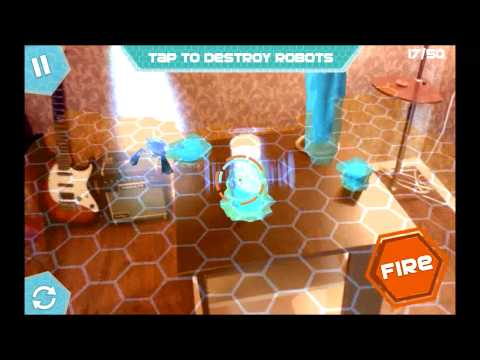Board Invaders - Qualcomm Vuforia augmented reality game