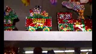 Xmas 3d Holographic Train With Lights