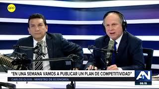 Entrevista al ministro de Economía y Finanzas, Carlos Oliva. (RPP TV)