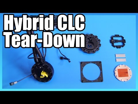 Taking Apart an EVGA Hybrid Liquid Cooler (& H100)