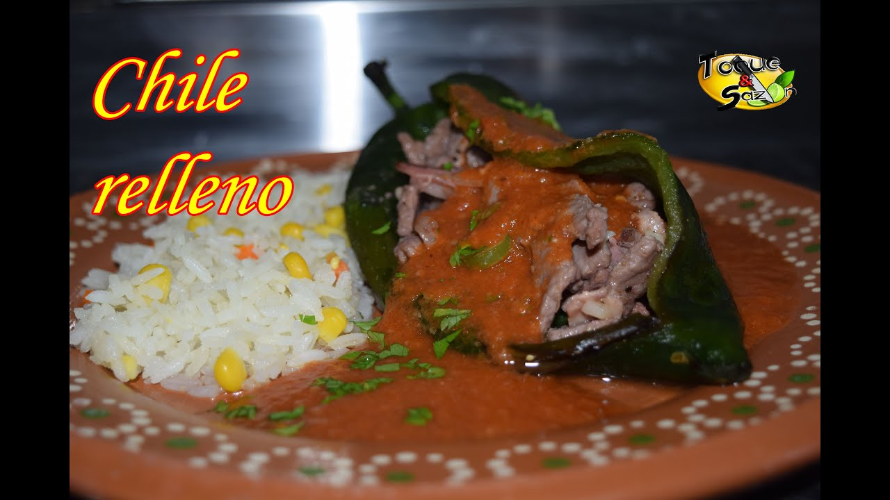 Chiles rellenos en salsa de tomate paso a paso toque y - Chipirones rellenos en salsa de tomate ...