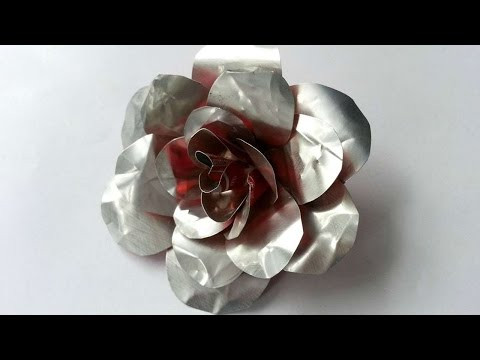 How To Create Recycled Metal Rose - DIY Crafts Tutorial - Guidecentral