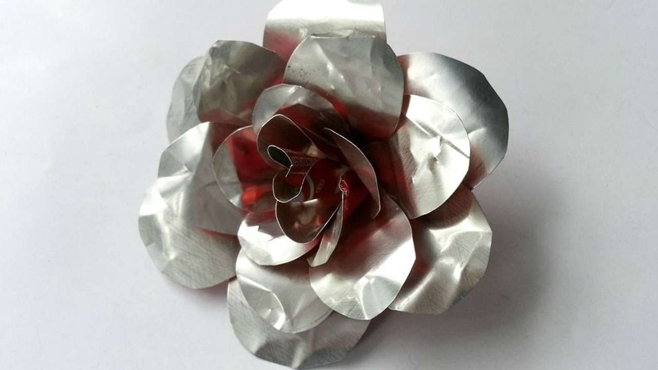 rose craft ideas how to create recycled metal diy crafts tutorial 2855