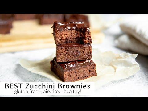 BEST Zucchini Brownies Recipe [Gluten Free, Dairy Free, Healthy!]