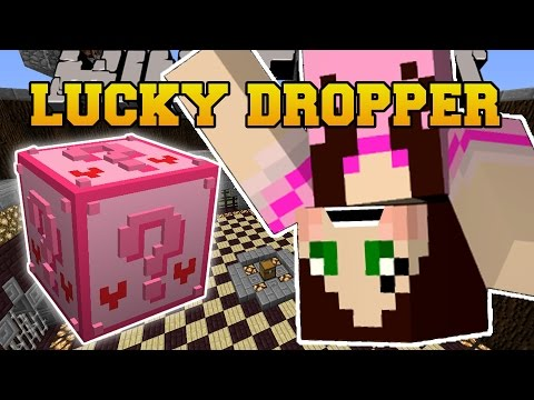 Minecraft: PINK LUCKY BLOCK DROPPER CHALLENGE GAMES - Lucky Block Mod - Modded Mini-Game