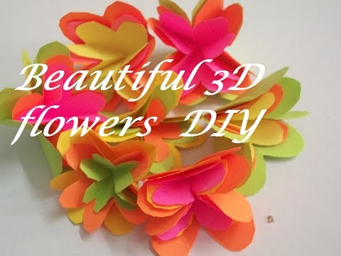 How To Make 3D Paper Flowers How To Make Paper Flowers Tutorial