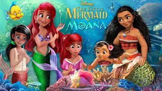 Download lagu The Little Mermaid & Moana: Ariel and Moana swim together with their daughters💚🌊 | Alice Edit!