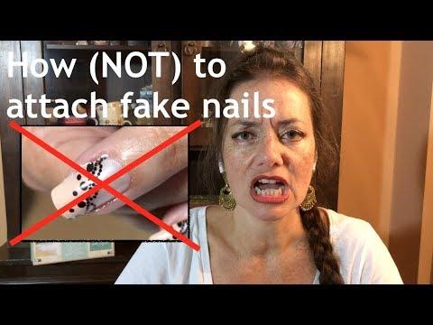 Nail tutorial: How (not) to attach fake nails thumbnail