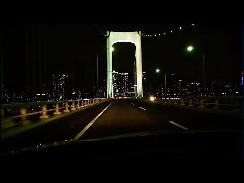 (1080p 60fps)Highway drive of Tokyo night 夜の首都高(前編) 船堀IC→渋谷経由→海ほたるPA