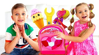 Diana Pretend Play with Magic Backpack