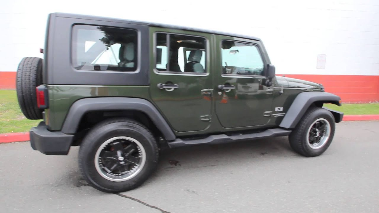 2007 Jeep Wrangler Unlimited X Forest Green 7L231821