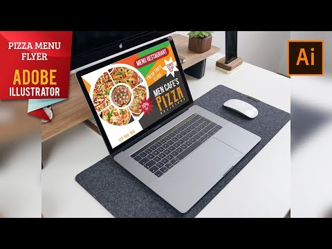 Illustrator Tutorial - Restaurant Pizza Flyer Design thumbnail