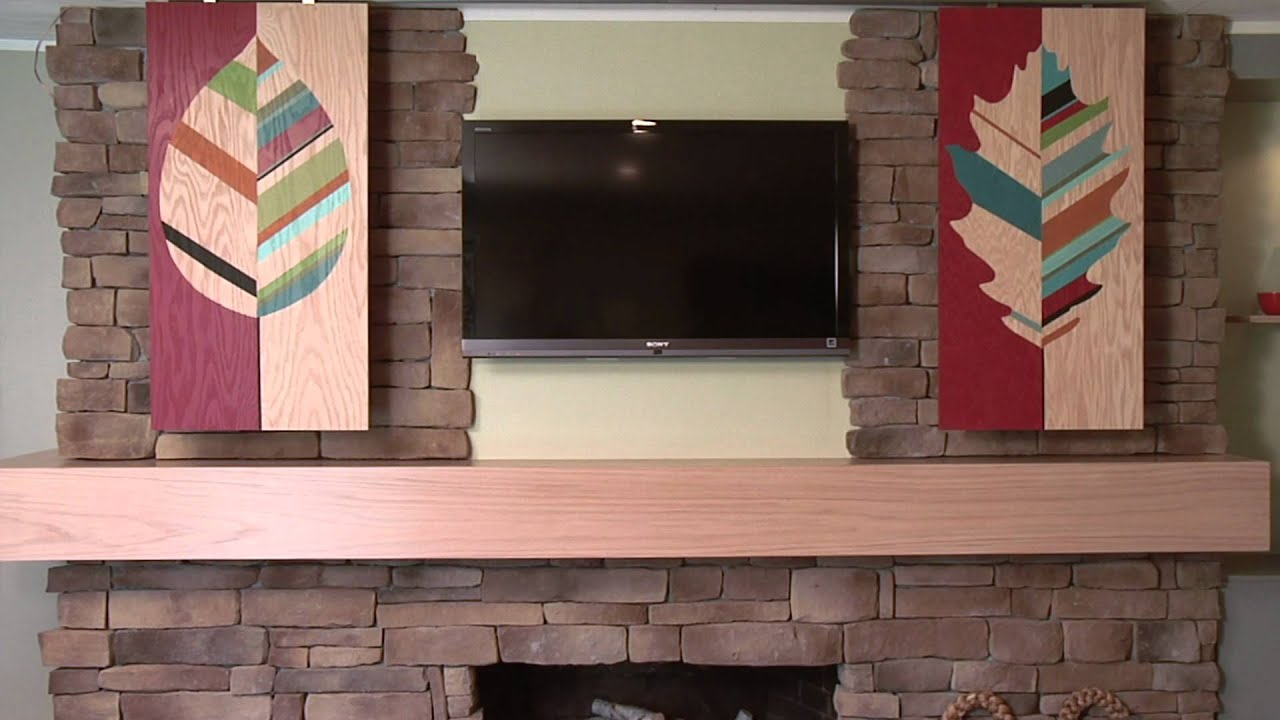 how to hide your flat screen tv with stylish sliding panels youtube