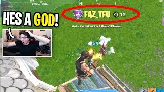 I spectated a FAKE FaZe Tfue and he CARRIED ME... (he's a BEAST!)