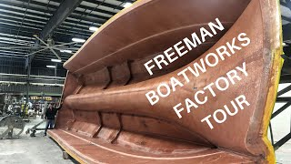 FREEMAN BOATWORKS factory tour