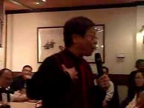 Wong Yuk Man (黃毓民) political stand up comedy in Calgary